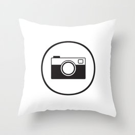 Tote Camera Throw Pillow