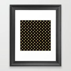 Chic Glam Gold and Black Stars Framed Art Print