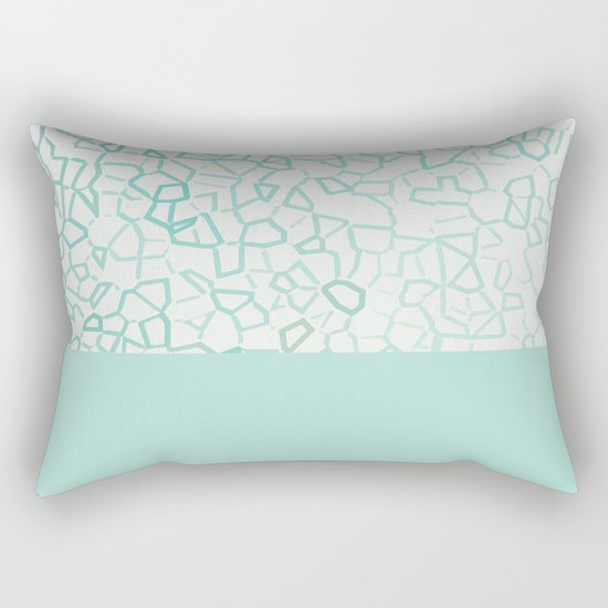Abstract on Turquois Rectangular Pillow