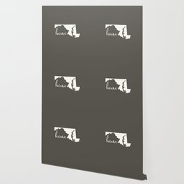 Maryland is Home - White on Charcoal Wallpaper