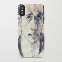 kerouac iPhone & iPod Cases featuring Jack Kerouac by Germania Marquez