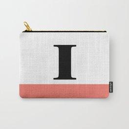 Monogram Letter I-Pantone-Peach Echo Carry-All Pouch