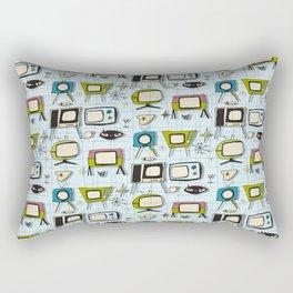 Retro Tv Light Blue #midcenturymodern Rectangular Pillow