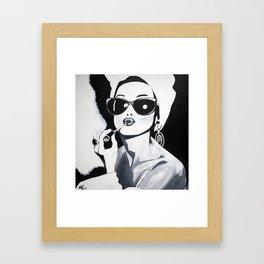 Sunglasses & Lipgloss Framed Art Print