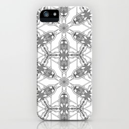 Black White Revived Gothic Revival iPhone Case
