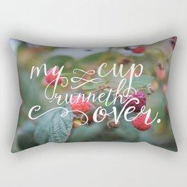 My Cup Runneth Over Encouraging Raspberry Nature Photograph Rectangular Pillow