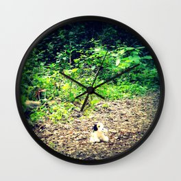 Lost Puppy Dog Wall Clock