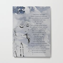 Landslide | Stevie Nicks Inspired Lyric Art Print Metal Print