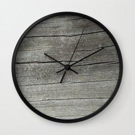 Ash Bark Wall Clock