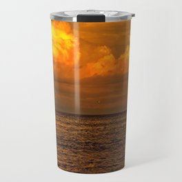 Billowy Sunset Travel Mug