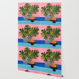 Pink Wall Monstera Wallpaper
