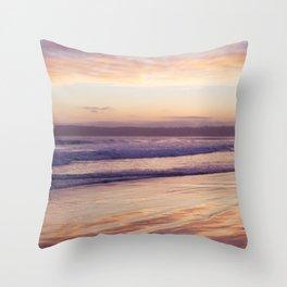 Sunset at Coronado Beach Throw Pillow
