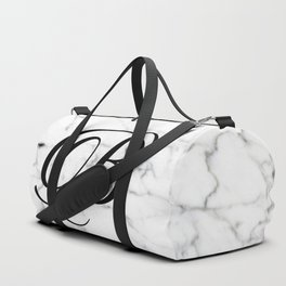 Letter B on Marble texture Initial personalized monogram Duffle Bag