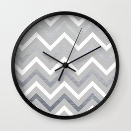Metallic Zigzag Wall Clock