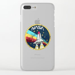 Nasa Vintage Clear iPhone Case