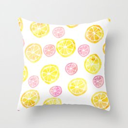 Lemons Pink Lemonade Throw Pillow