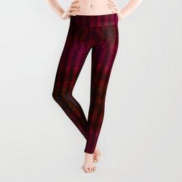 Patterns II Red Leggings