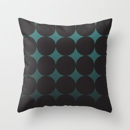 Circling Emerald Throw Pillow