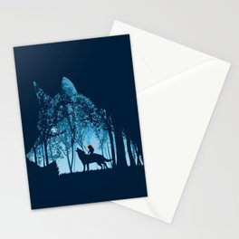 Wolf forest Stationery Cards
