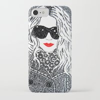 chic iPhone & iPod Cases featuring CHIC by The Curly Whirl Girly.