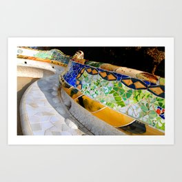 Gaudi Series - Parc Güell No. 1 Art Print