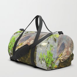 Young Green Heron Duffle Bag