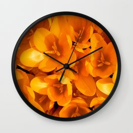 Gold in the garden Wall Clock