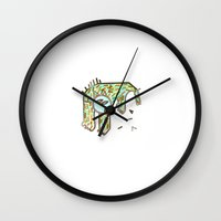 beast Wall Clocks featuring Beast by Boiling Point Press