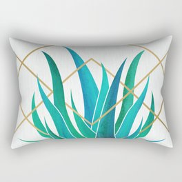 Modern Succulent - metallic accents Rectangular Pillow