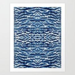 Shiso Shibori Satin Art Print