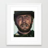 clint eastwood Framed Art Prints featuring Clint Eastwood by scottmitchell