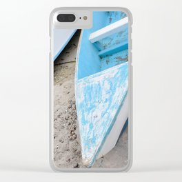 Two boats on the shore Clear iPhone Case