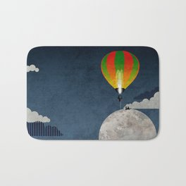 Picnic in a Balloon on the Moon Bath Mat