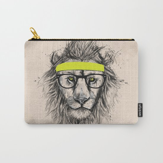 Hipster lion (light version) Carry-All Pouch