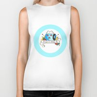 mother Biker Tanks featuring Mother  by Christopher Chouinard
