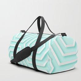 3D Hexagon Gradient Minimal Minimalist Geometric Pastel Soft Graphic Duffle Bag