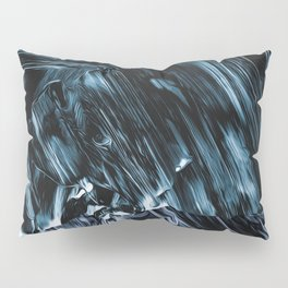 Abstract Chrome Silver Paint III Pillow Sham