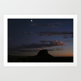 Fajada Butte & Moon Art Print
