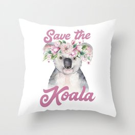 Save the Koala -#2 Throw Pillow