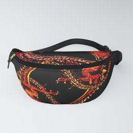 Ouroboro Twin Red Dragons Fanny Pack