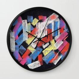 Multicolor construct Wall Clock