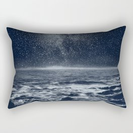 Stars and Milky Way over the Atlantic Ocean Rectangular Pillow
