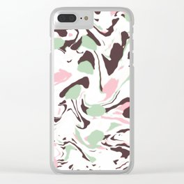 Stirred colors on white Clear iPhone Case