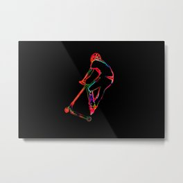 High-flying Scootering - Scooter Boy Metal Print