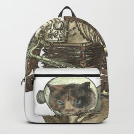 Space Cat with Saxophone Backpack
