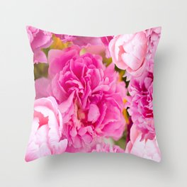 Large Pink Peony Flowers #decor #society6 #buyart Throw Pillow