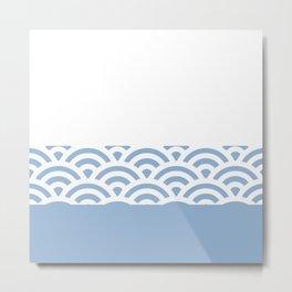 Rainbow Trim Lake Blue Metal Print