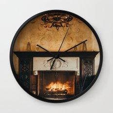 Cozy Fireplace Wall Clock