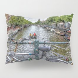 Amsterdam Bridge Canal View Pillow Sham