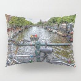 Amsterdam Bridge Canal View Pillow Sham